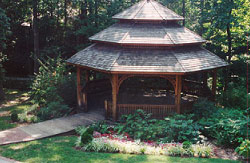 The Sandy Springs Society donated funds for the purchase of the gazebo at Heritage Green.