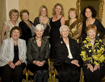 Ten of the founding members of The Society celebrated the organization\'s 20th anniversary in 2009. Pictured are: Back row Lorellee Wolters, Dottie Megel-Sabre, Kerry Gill, Jill Wolfe, Judy Marks, Melanie Smith. Front row: Marianne Lee, Saralyn Oberdorfer, Ann Chenault, Jan Collins.